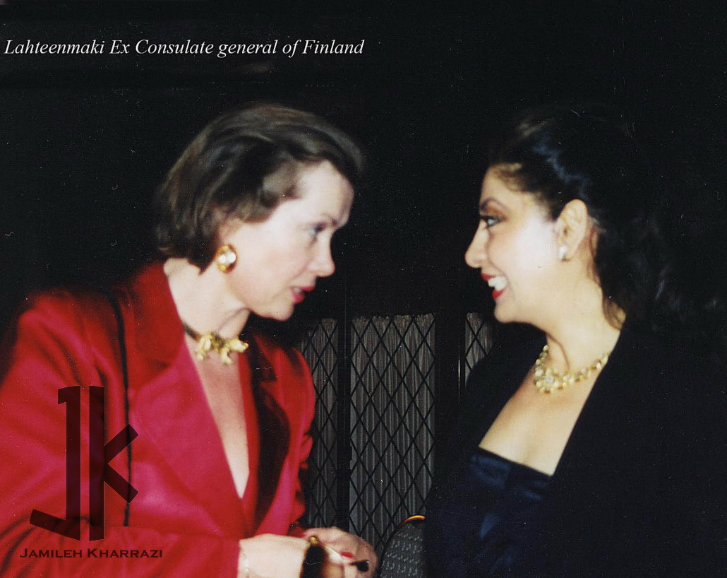 Jamileh Kharrazi and ExLahteenmaki-consulate general of Finland