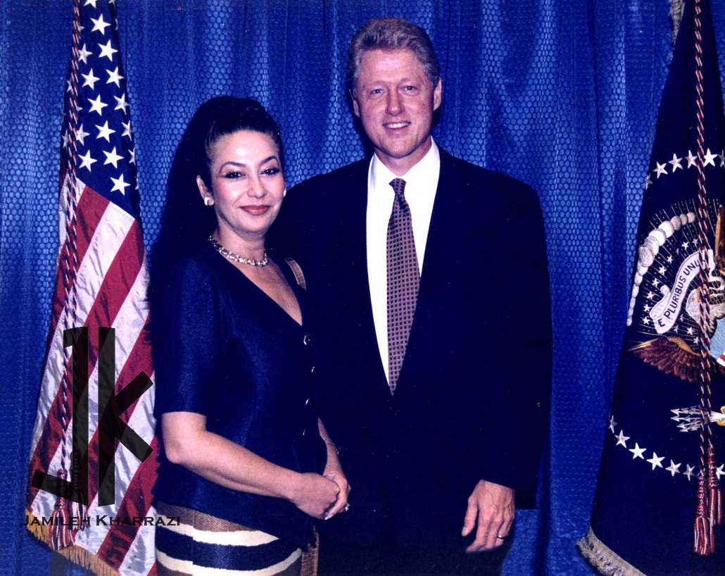 Jamileh Kharrazi and Bil clinton