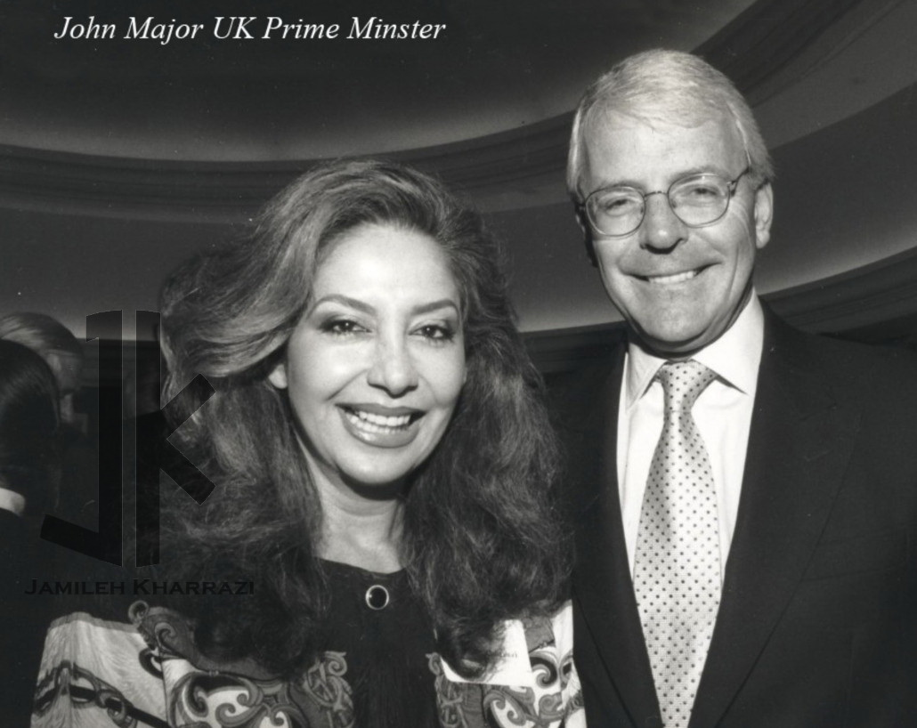 Jamileh Kharrazi and John Major UK