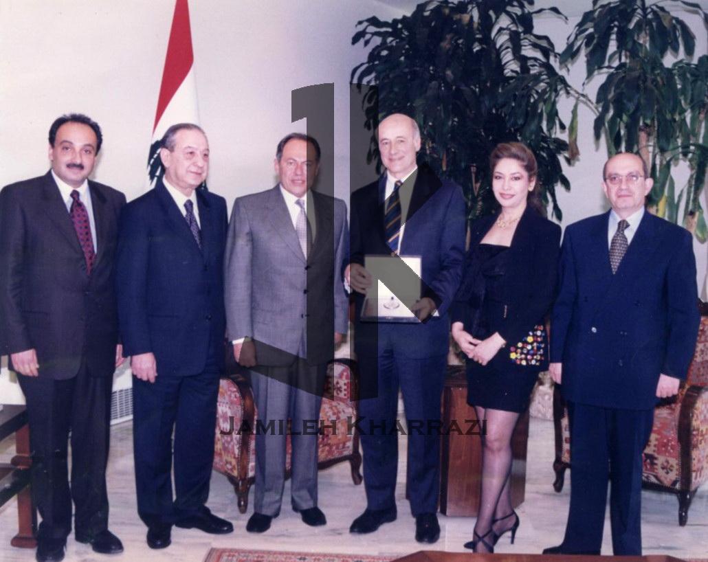 Jamileh Kharrazi and president lahoud