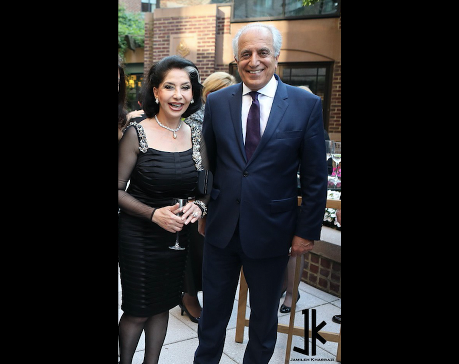 Lady-Jamileh-Kharrazi-and-Ambassador-Zalmay-Khalilzad-at-the-American-University-of-Afghanistan-Fundraising-event-in-Washington-DC2