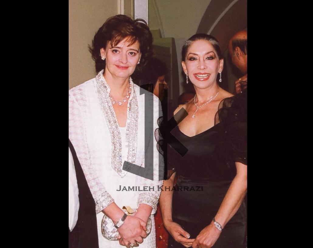 جمیله خرازی به همراه شرلی برلی همسر تونی برلی