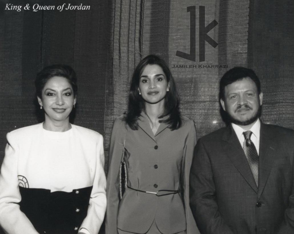 جمیله خرازی به همراه شاه و ملکه اردن