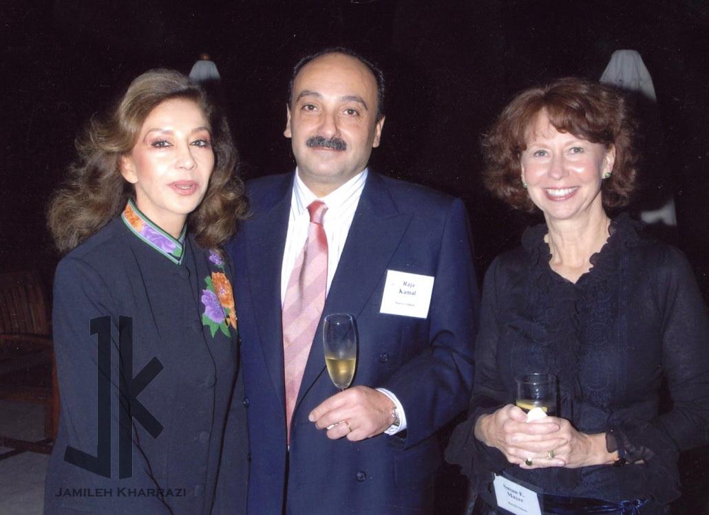 جمیله خرازی همراه با سوزان مایر و راجا کمال