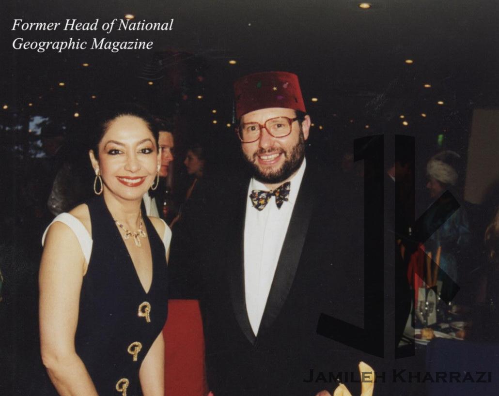 جمیله خرازی- عکس صفحه نخست مجله نچرال جغرافی